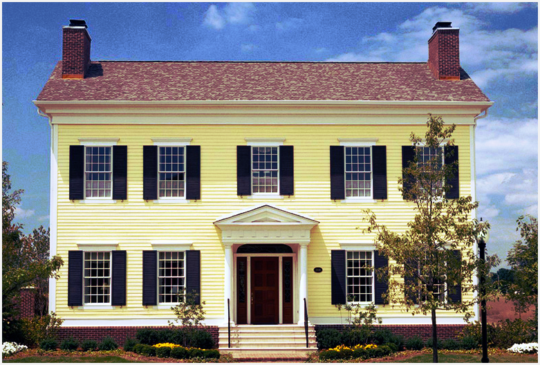 colonial replacement windows house
